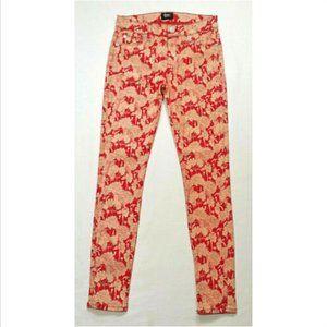 HUDSON Crop Ankle Skinny Jeans Floral 2971E1M